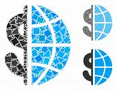 Global Business Mosaic Of Uneven Parts In Different Sizes And Color Hues, Based On Global Business I poster
