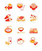 Japanese Sushi-bar Or Restaurant Icons | Juicy Series
