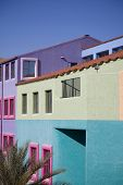 Vibrant buildings in downtown Tucson, Arizona