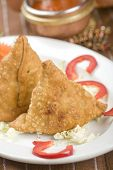 pic of samosa  - potato samosa - JPG