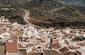 picture of pueblo  - Olvera is a white village  - JPG