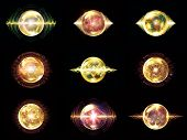 picture of orbs  - Wave Particle series - JPG