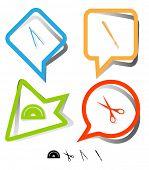 foto of protractor  - Education icon set - JPG