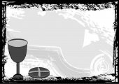foto of communion-cup  - Holy communion black and white  - JPG