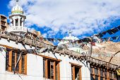 stock photo of vihara  - The Chokhang Vihara at Leh - JPG