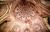 stock photo of khas  - Ceiling painting inside Firuz Shah Tughlaq - JPG