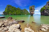 Ko Tapu rock on James Bond Island, Phang Nga Bay in Thailand