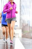 stock photo of short legs  - Running people  - JPG