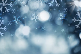 pic of xmas star  - Winter Holiday Snow Background - JPG