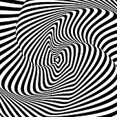 image of distortion  - Design monochrome whirl motion illusion background - JPG