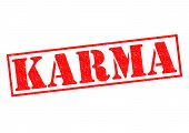 picture of karma  - KARMA red Rubber Stamp over a white background - JPG