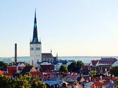picture of olaf  - View to anciant old town and the tower of St Olaf - JPG