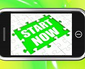 Start Now Tablet Means Begin Immediately Or Don't Wait
