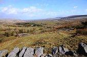 stock photo of galway  - A beautiful day Corkscrew Hill in County Galway - JPG