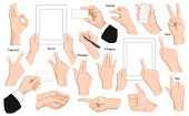 stock photo of gesture  - Big set of hands and gestures - JPG