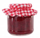 Jar of preserved beet root