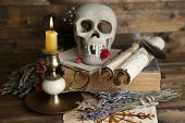 image of voodoo  - Conceptual photo of love magic - JPG