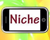 picture of niche  - Niche Smartphone Showing Web Opening Or Specialty - JPG