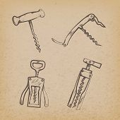 Collection of retro corkscrews
