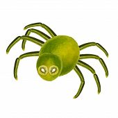 Funny Spider, Made From Fruits And Vegetables