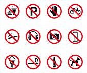 ������, ������: Prohibition And Warning Signs