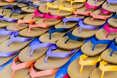 Colorful Of Rubber Slippers.
