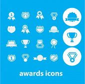 awards, victory icons set, vector