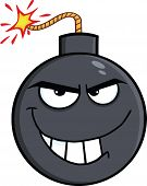Evil Bomb Cartoon Character