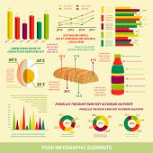 Food infographics flat design elements