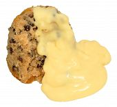 foto of dick  - Spotted Dick Sponge Pudding With Custard - JPG