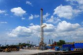 picture of rig  - Land Drilling Rig in Yard  - JPG