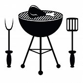 pic of dutch oven  - drumstick chicken fried on a barbecue grill - JPG