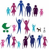 pic of buggy  - Protection people silhouette family icon - JPG