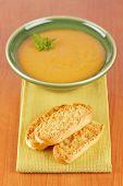 Постер, плакат: Крем суп из шпината