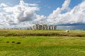 stock photo of stonehenge  - Stonehenge - an ancient prehistoric stone monument near Salisbury Wiltshire UK