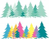 image of xmas tree  - Forest abstract creative floral pattern background with curve xmas tree - JPG
