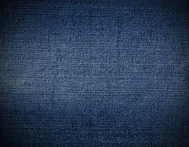 picture of denim jeans  - Striped textured blue used jeans denim linen vintage background - JPG