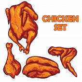 picture of  breasts  - chicken set illustration - JPG