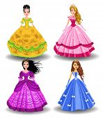 picture of fairy-tale  - fairy tale doll princesses - JPG