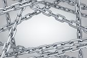 image of chains  - Steel chain background - JPG
