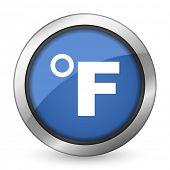 pic of fahrenheit thermometer  - fahrenheit icon temperature unit sign - JPG