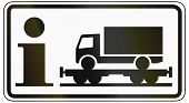 pic of railroad-sign  - German traffic sign additional panel to specify the meaning of other signs - JPG