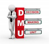 picture of gatekeeper  - 3d rendering of business person standing with dmu  - JPG