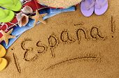 picture of sombrero  - The word Espana  - JPG