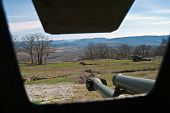 pic of cannon  - the Cannon on position in a museum - JPG