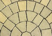 picture of paving  - patterned paving tiles cement brick floor background - JPG