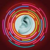 picture of human ear  - Ear and sound - JPG