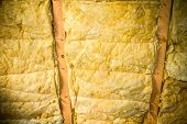 foto of glass-wool  - Thermal insulation material  - JPG