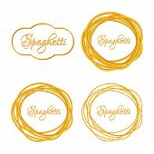 pic of twist  - Set of Realistic Twisted Spaghetti Pasta Circle Frame - JPG