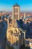 image of gents  - Aerial view of Ghent from Belfry  - JPG